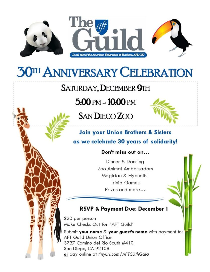 AFT Guild 30th Anniversary Celebration -December 9th! - The