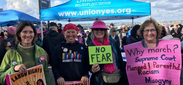 AFT Activists at SD Women's March 1/20/18