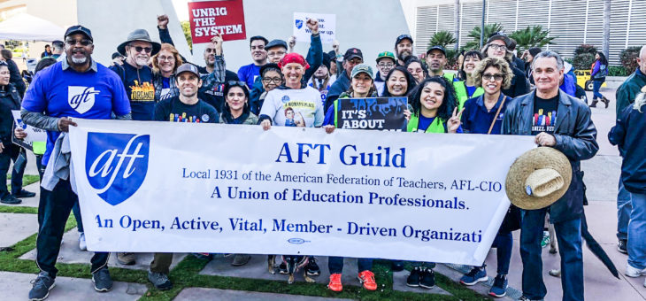 AFT Members and Student Interns at Workers' Day of Action, 2/24/18