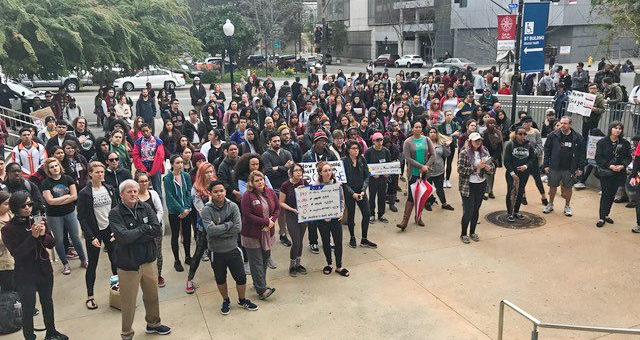 National Walkout Day at City College, 3/14/18.