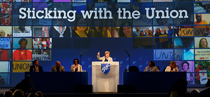 Sticking with the Union at the AFT Convention on July 13th, 2018