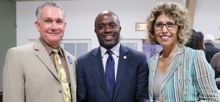 Jim Mahler & Anita Martinez with Candidate for Superintendent of Public Instruction Tony Thurmond - 9/12/2018