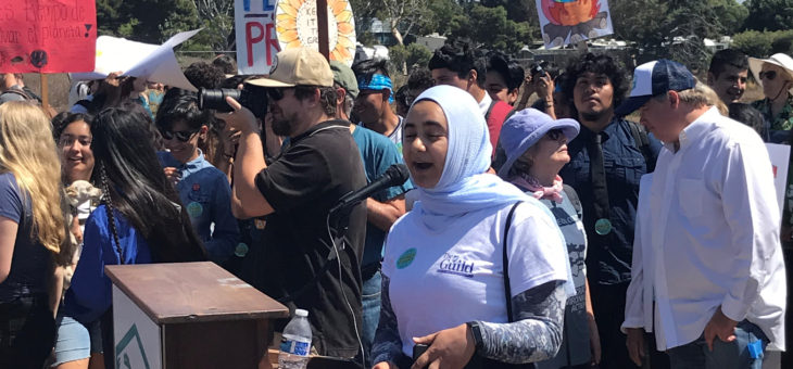 AFT Guild student intern Yasmeen Obeid at Student Climate Strike - 9/20/2019