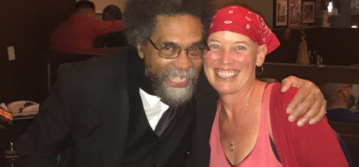 Cornel West with AFT VP Kelly Mayhew at CFT Committee Mtg. - 9/28/2019