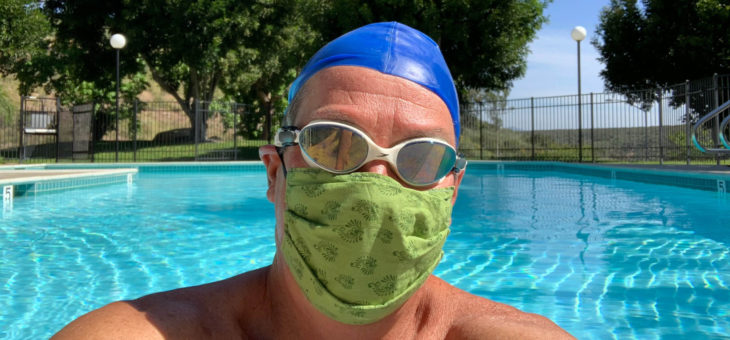 AFT Guild Member Mark Pressnall Practices Masked Water Aerobics - 5/5/2020